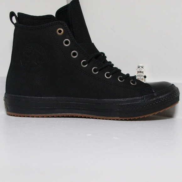 fc26e991daf0 Black Leather Waterproof Converse All Star Boots